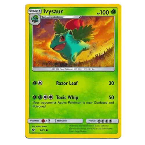 Ivysaur 2//73 Shining Legends Pokemon Card NEAR MINT