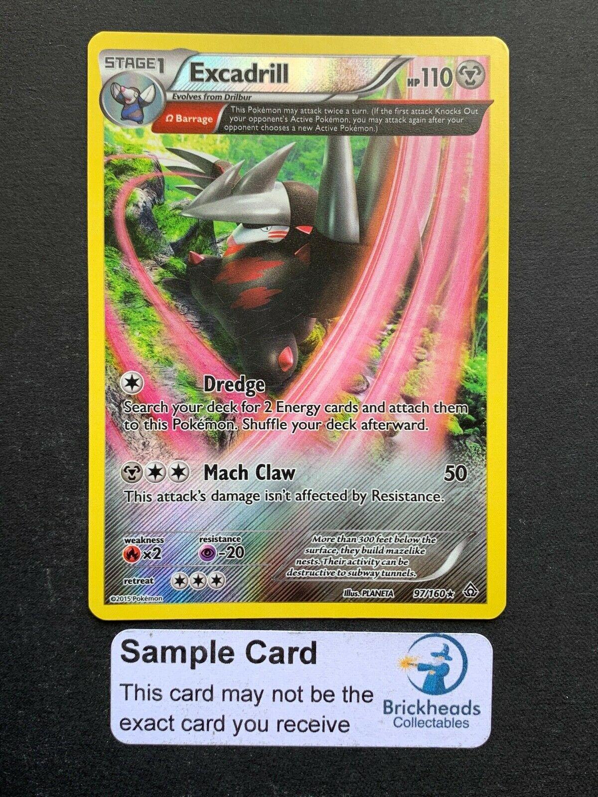 Excadrill 97/160 Holo Rare   XY: Primal Clash  Pokemon Card