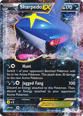 1 x Pokemon Sharpedo-EX - 91/160 - Holo Rare EX XY—Primal Clash - Lightly Played