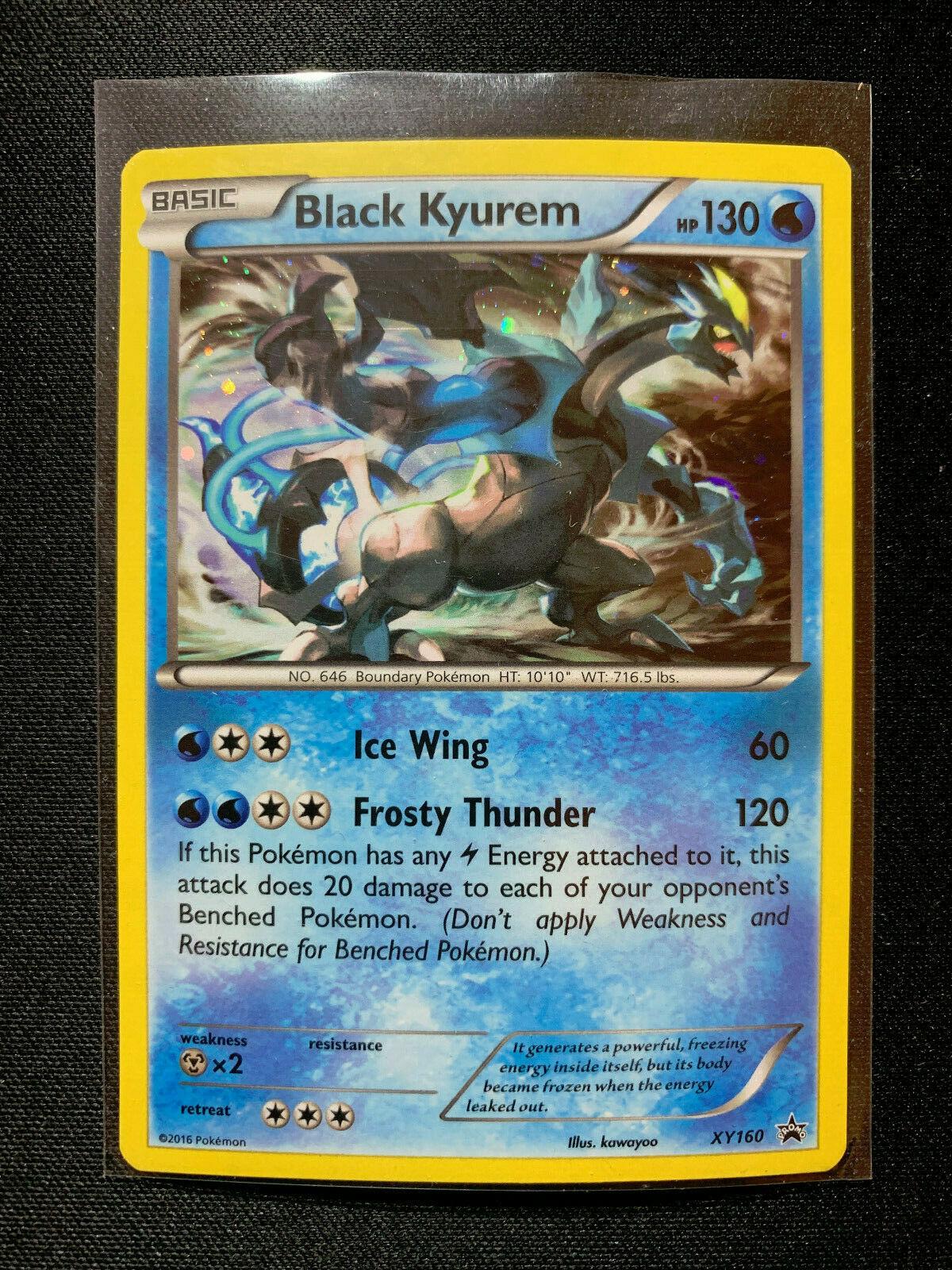 Black Kyurem XY160 Holo XY Black Star Promo Pokemon Card ~ NM