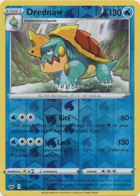 4 x Pokemon Drednaw - 061/202 - Rare - Reverse Holo Sword & Shield - Base Set -  - Image 1