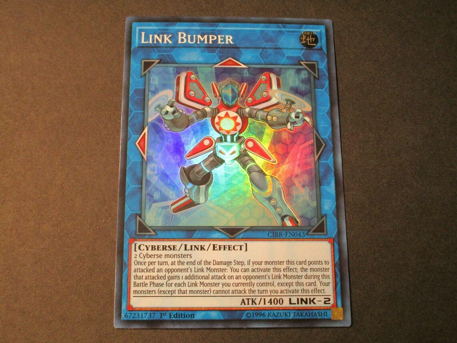 Link Bumper x3 Super Rare CIBR-EN043 MINT 1st Edition!