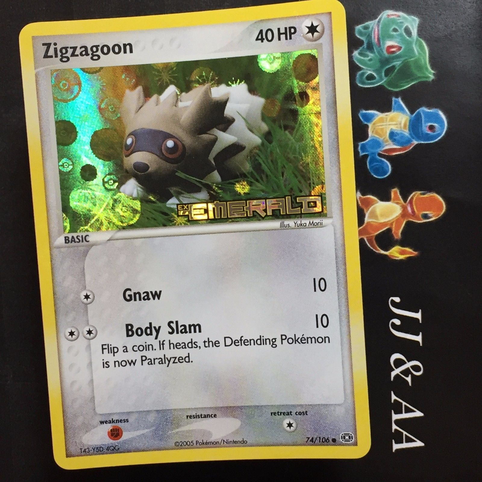 C Pokemon EX Emerald Card # 74 4x EMERALD-074 Zigzagoon