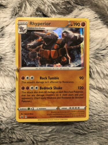 Pokemon Card   RHYPERIOR   Holo Rare   99//202  SWORD /& SHIELD  *MINT* 099