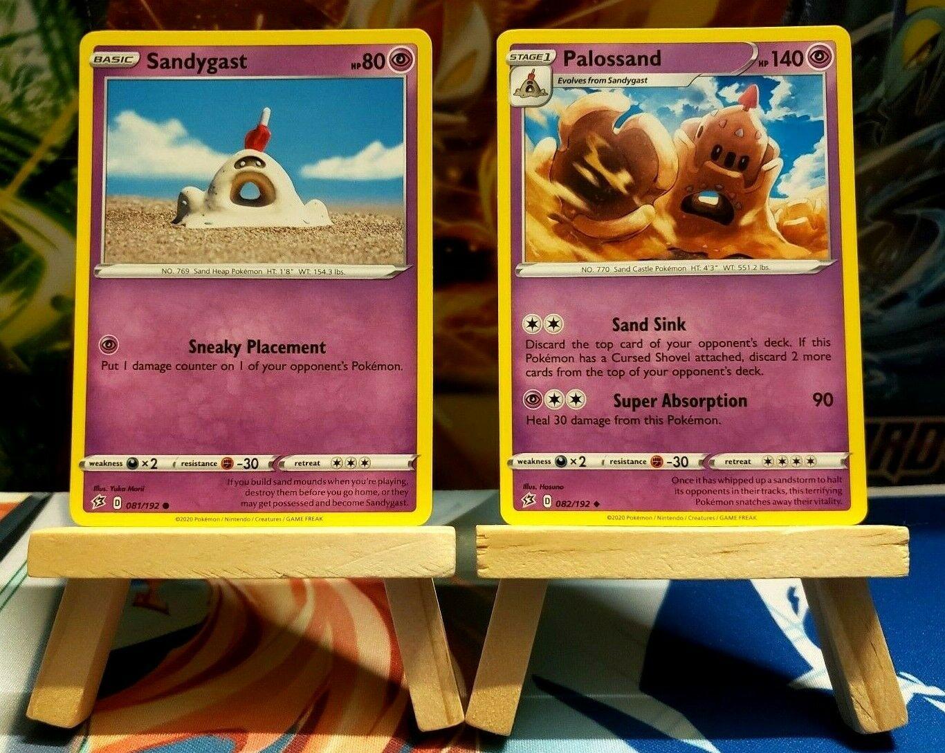 - NM Uncommon Pokemon Card Palossand 082//192 2020 Rebel Clash Set