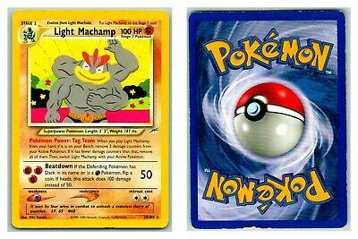 Unlimited Edition NM-Mint Pokemon G2 1x Light Machamp 25//105 Rare Neo De