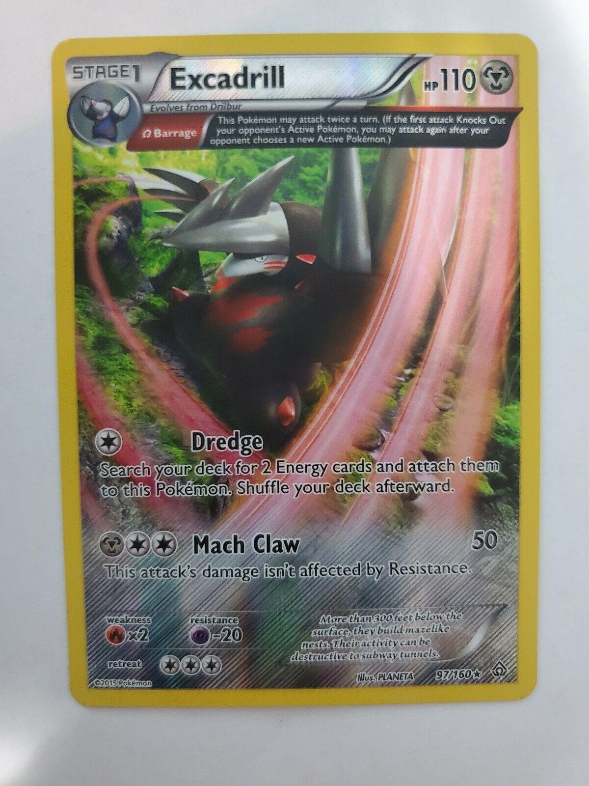 Excadrill 97/160 Primal Clash Rare NM/M Pokemon Card - Image 1
