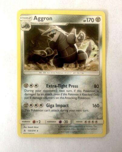 Pokemon Aggron 125/214 Rare NM