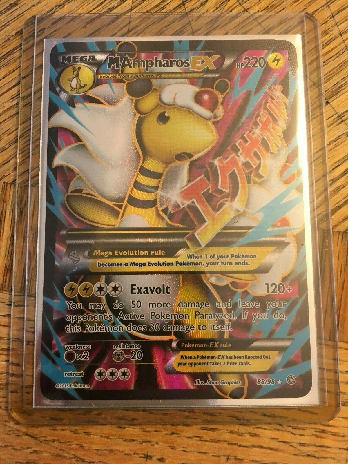 XY Ancient Origins M Ampharos EX 88//98 Full Art PSA 9