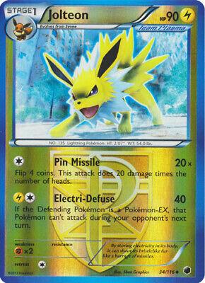 Carte Pokemon JOLTEON 34//116 Unco Reverse N/&B BW ENGLISH NEUF