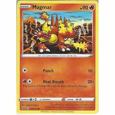 4x Magmar 029//192 Playset Sword and Shield: Rebel Clash Pokemon TCG