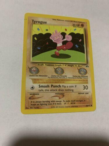 Tyrogue 66//75 Neo Discovery Pokemon Card