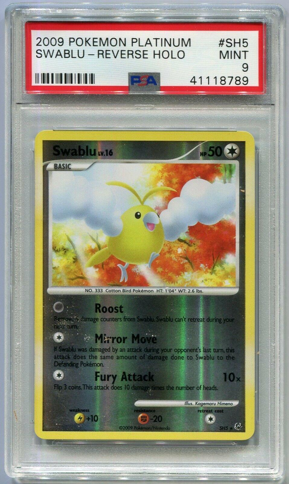 Pokemon Swablu Platinum Holo Rare SH5 Near Mint NM