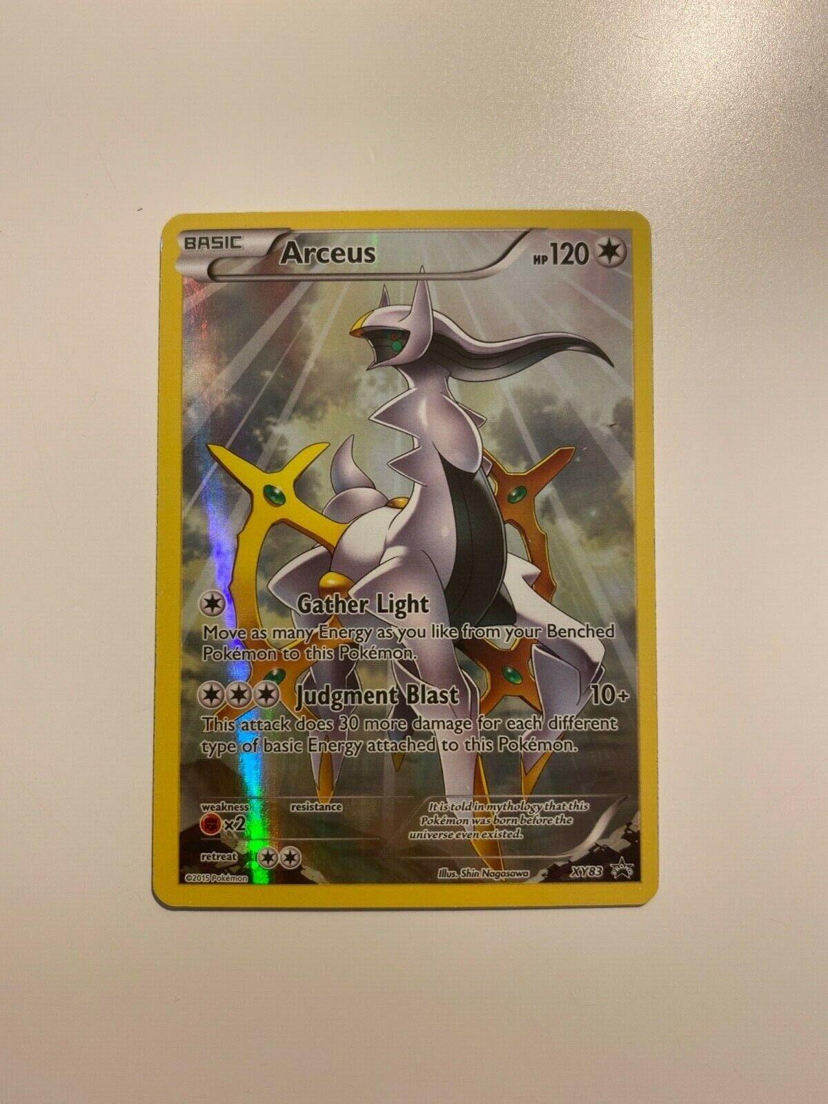 Pokemon Card - Arceus Full Art Promo XY83 Ultra Rare Holo B&W EX Black Star M