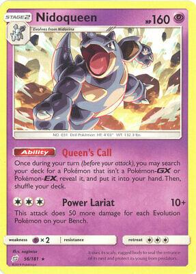 Pokemon Card - Sun & Moon Team Up 56/181 - NIDOQUEEN (rare) - NM/Mint