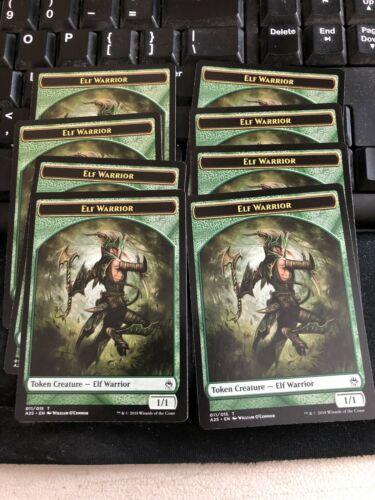 1//1 O/'Connor Art Elf Warrior Token 10x MTG Magic NM Green