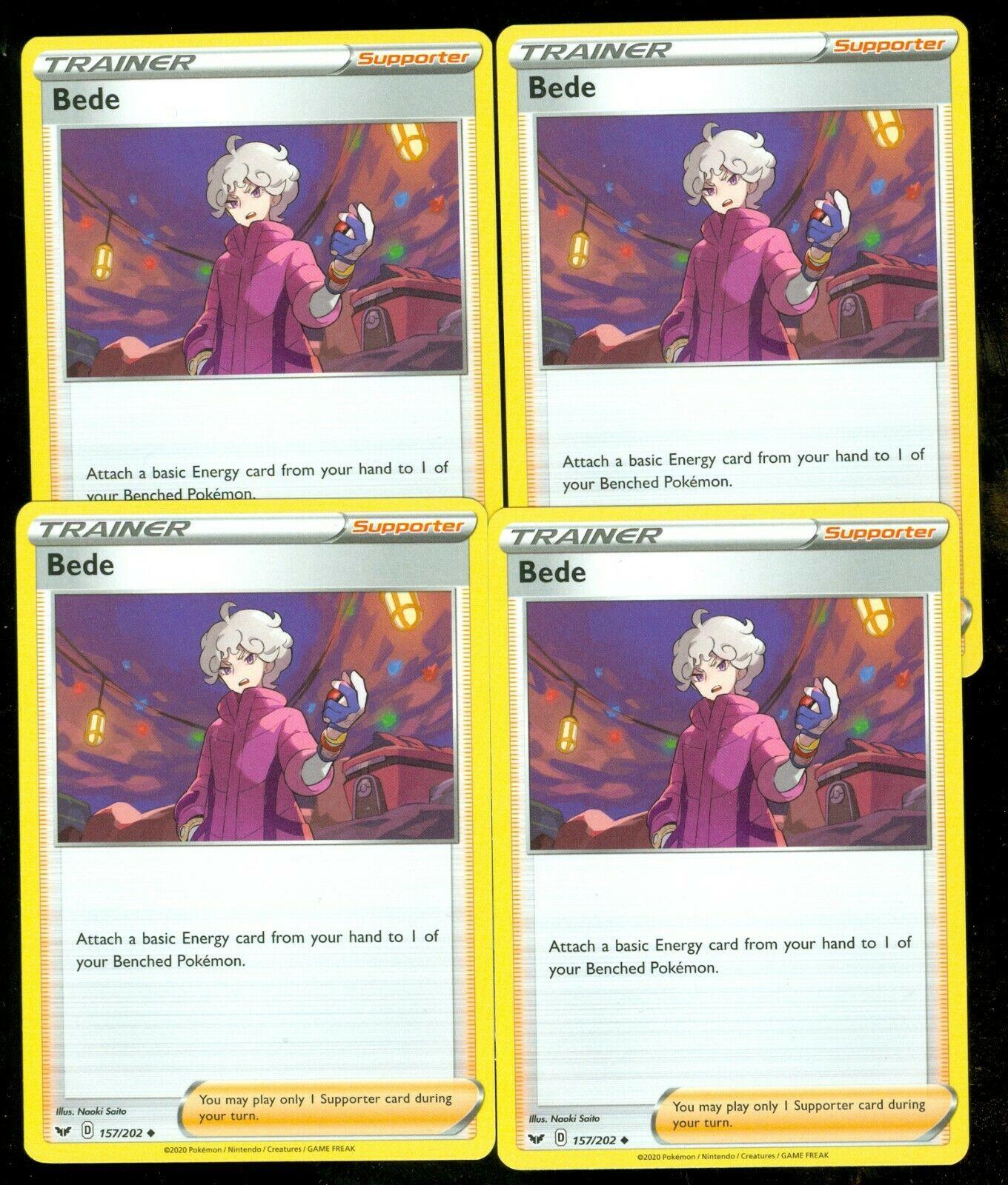 Pokemon BEDE 157/202 Sword & Shield - - MINT 4X - Image 1