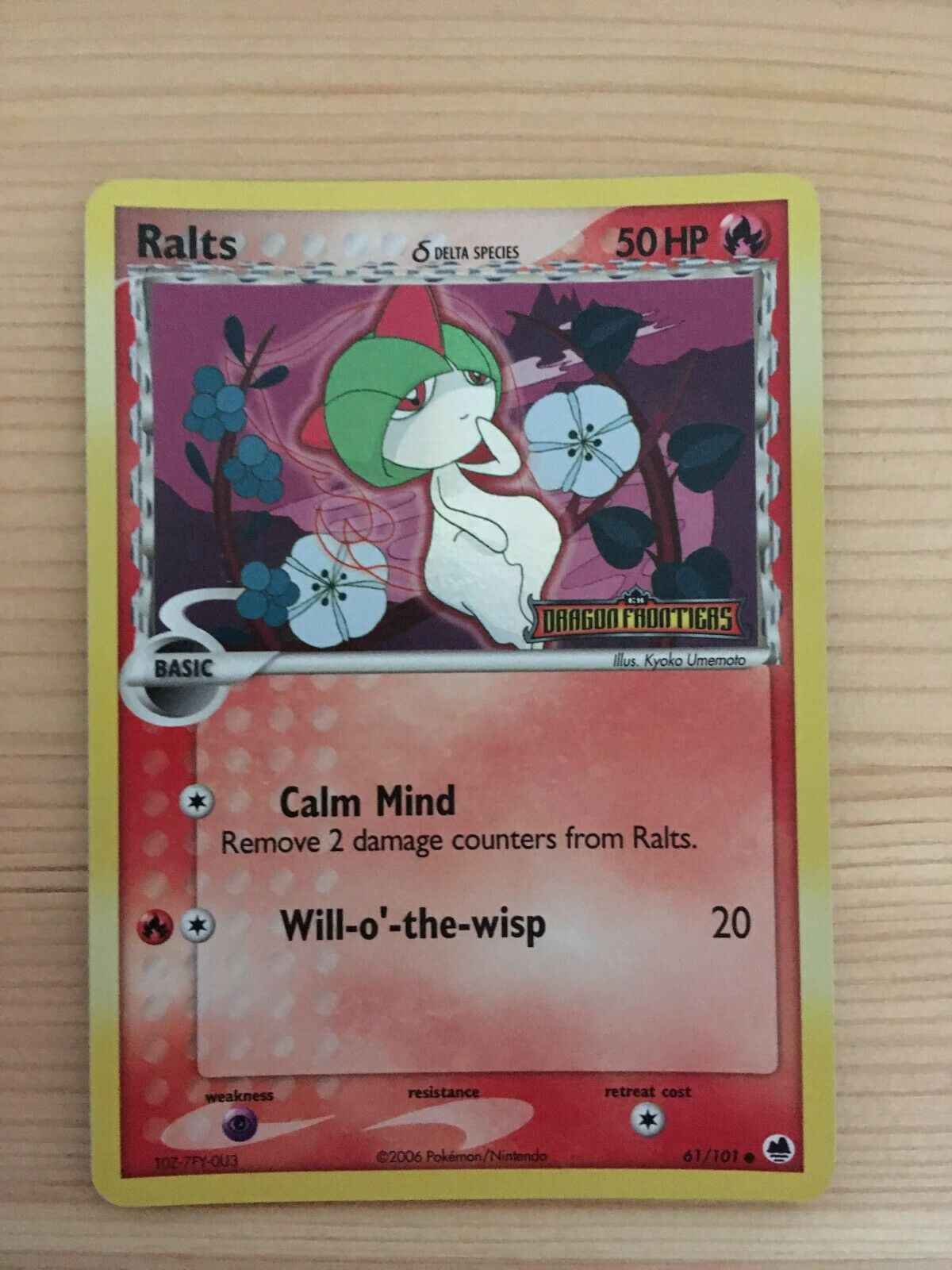 Delta Species Pokemon Ralts 61//101 Common Reverse Holo.