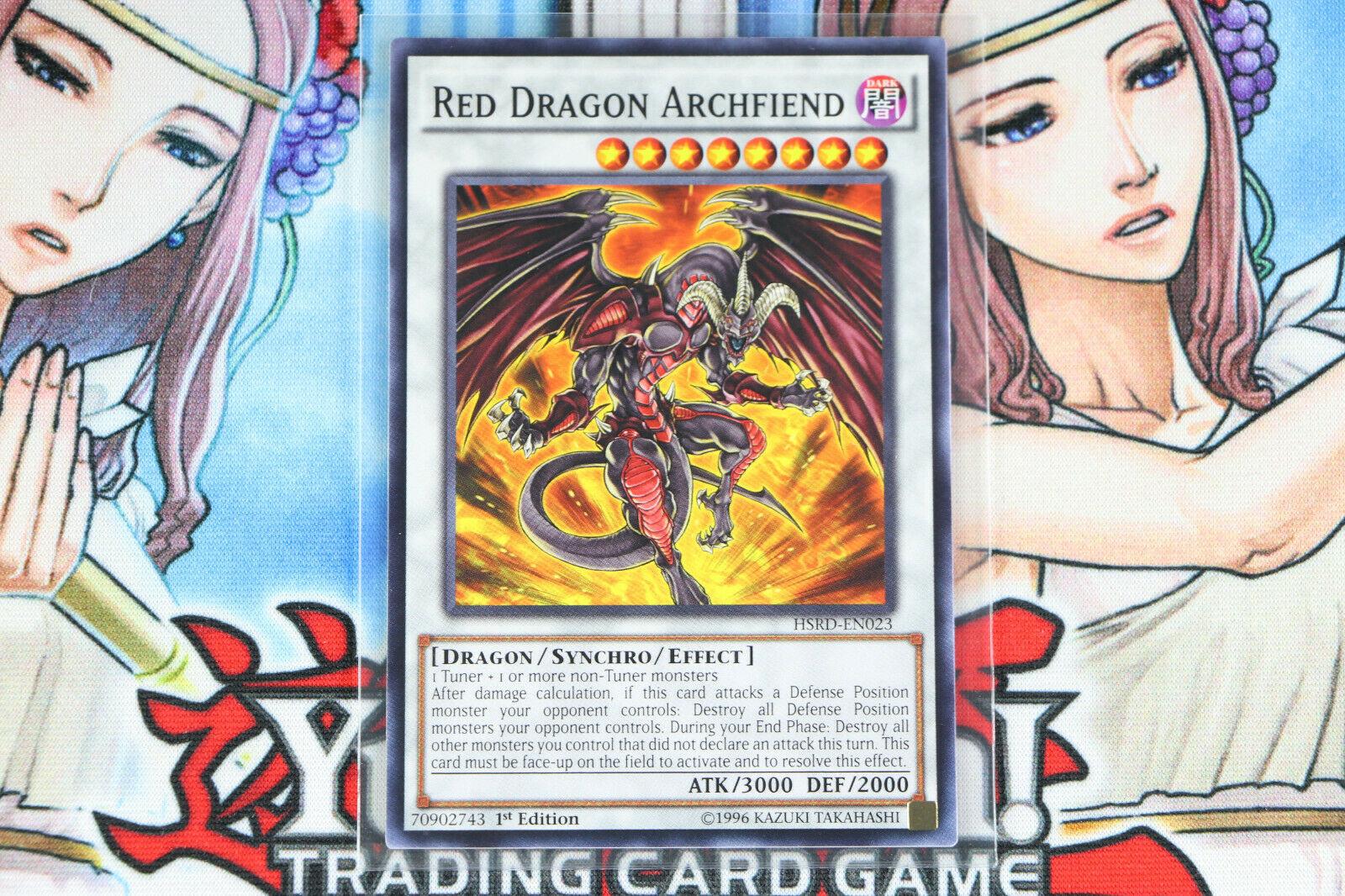 Red Dragon Archfiend Yu-Gi-Oh HSRD-EN023 1st Ed Common NM +2 Random Commons