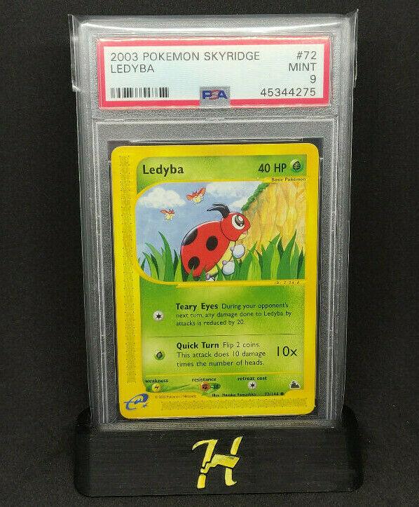 Pokemon Card Rare Old Trading Card Game Skyridge No 72//144 Ledyba German