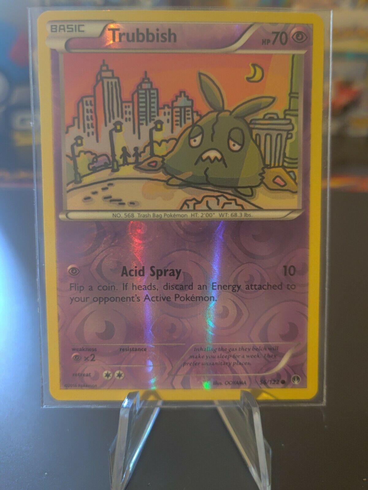 56//122 6x Trubbish Common Reverse Holo Near Mint Pokemon XY Breakthrough