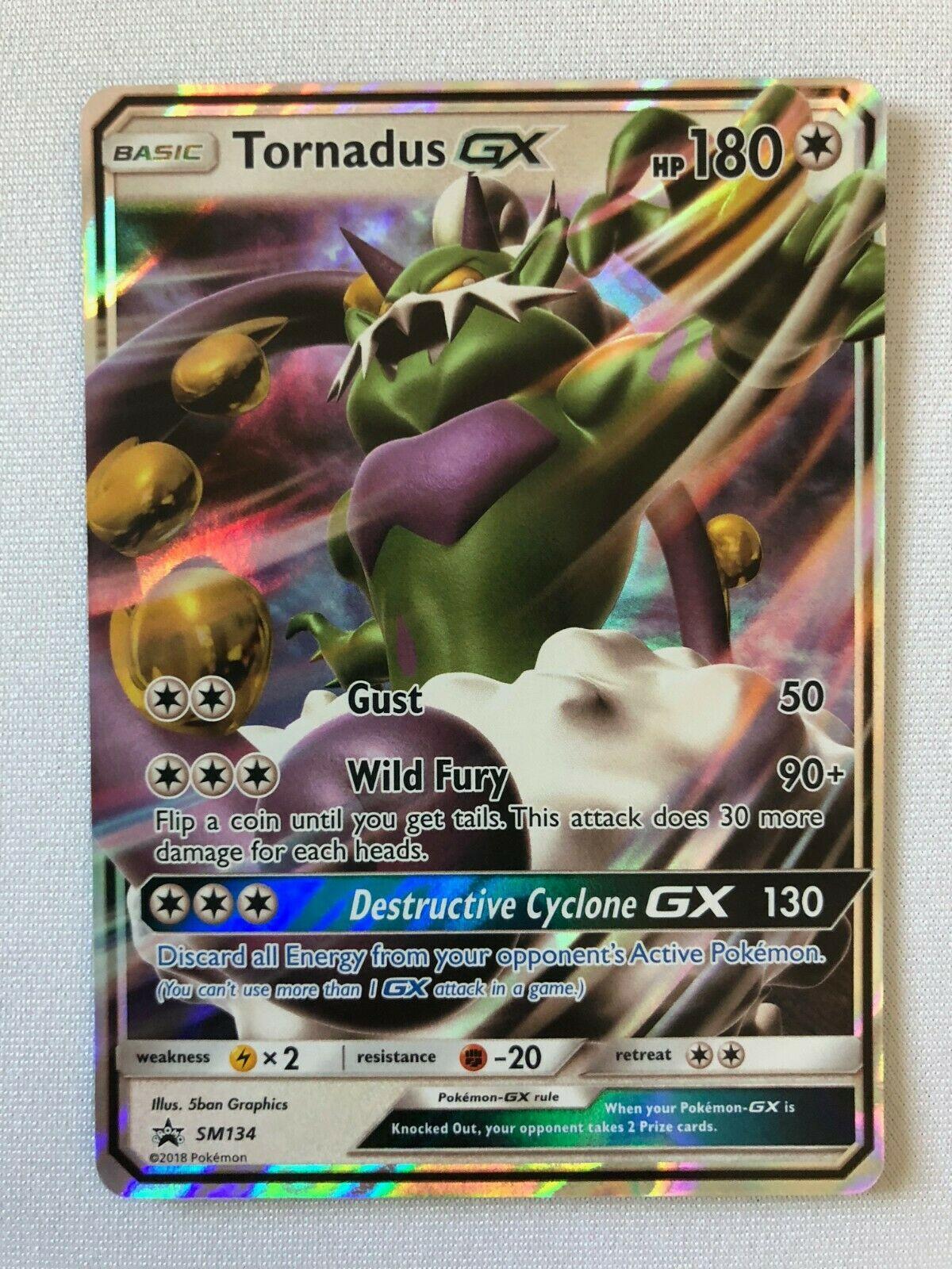 Pokemon Card NM UTRA RARE Tornadus GX SM134 Forces of Nature GX