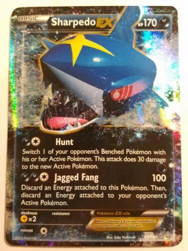 Sharpedo EX 91/160 XY Primal Clash Ultra Rare Pokemon Card