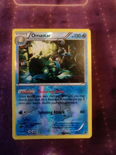 1x Omastar - 18/124 - Rare - Reverse Holo NM-Mint Pokemon XY - Fates Collide
