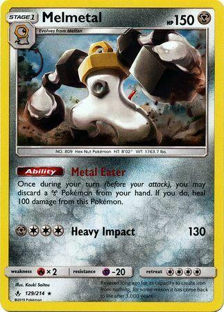 Melmetal - 129/214 - Holo Rare - S&M: Unbroken Bonds - Pokemon