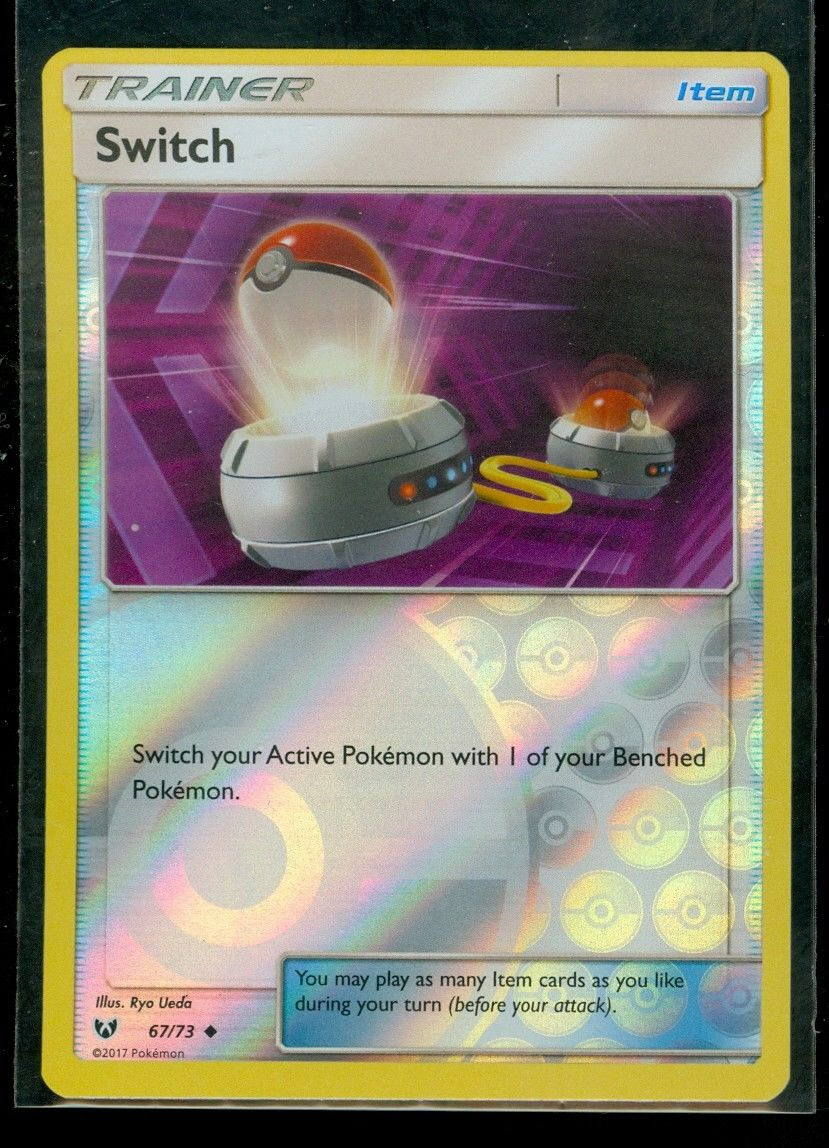 x4 Switch 67//73 Uncommon Pokemon Shining Legends M//NM English
