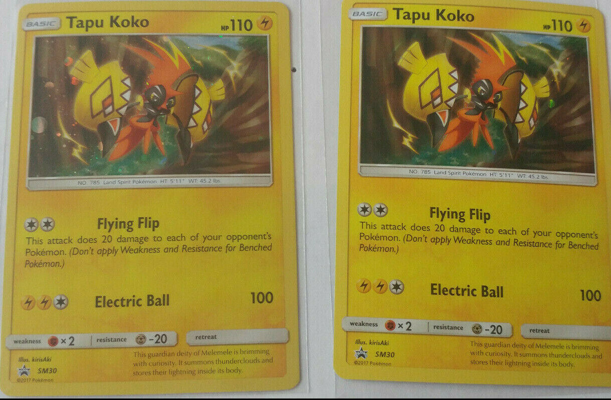 Details about  /Tapu Koko SM30 Holo Sun /& Moon Promo Pokemon Card ~ NM//Mint