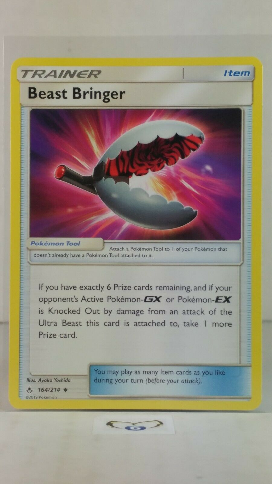 Beast Bringer  164/214 S&M: Unbroken Bonds Uncommon Mint/NM Pokemon - Image 1
