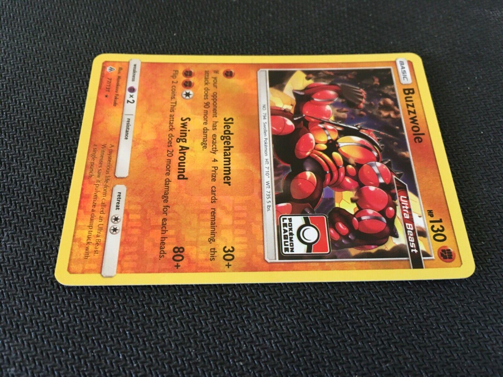 Buzzwole Rare Holo League Promo Pokemon Card Trainer Item Forbidden Light 77/131 - Image 4