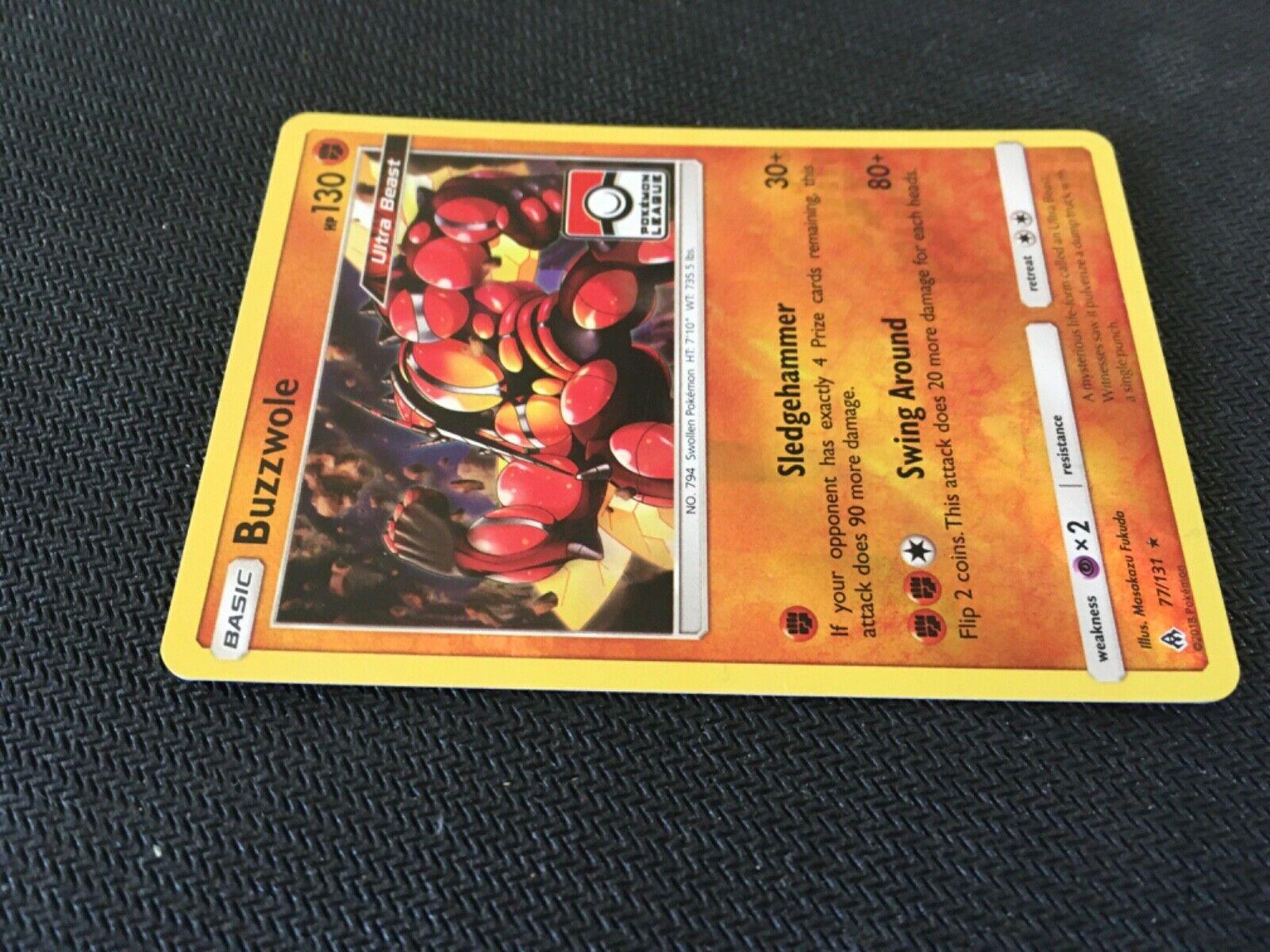 Buzzwole Rare Holo League Promo Pokemon Card Trainer Item Forbidden Light 77/131 - Image 6