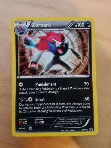Pokemon Zoroark BW19 Holo Promo Card from Zoroark Illusions Box