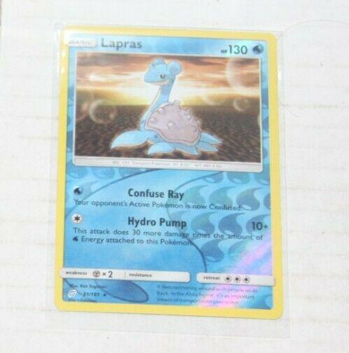 Lapras (Reverse Holo) - Team Up 31/181 Rare Pokemon Card Near Mint