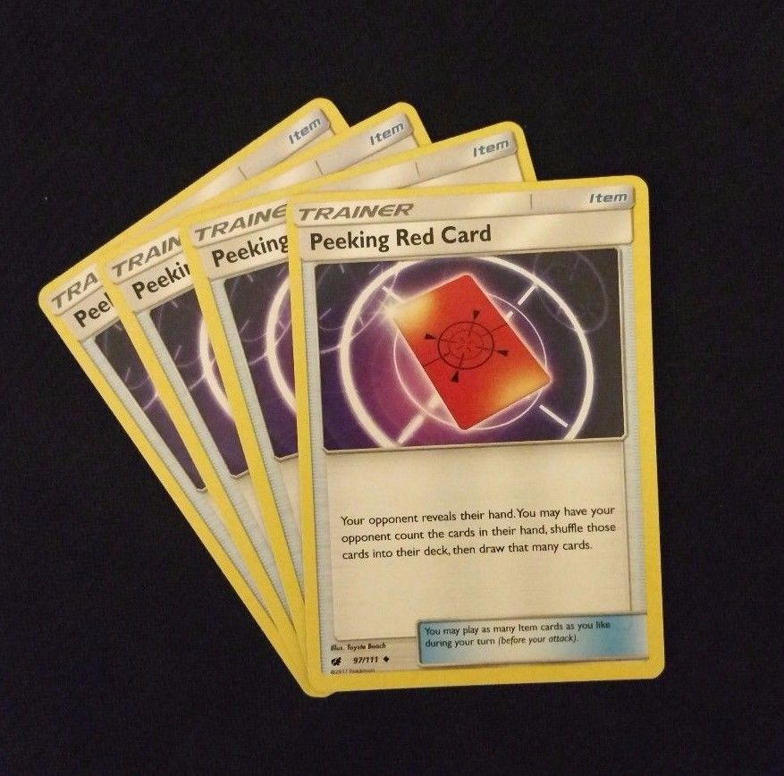 Peeking Red Card 97//111 x4 Pokemon Cards # 4I82