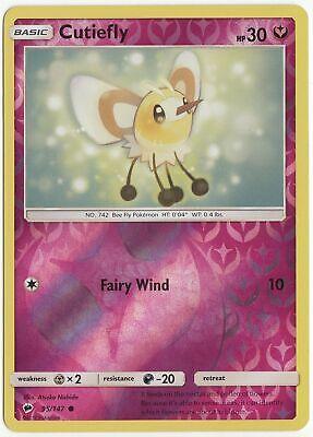 Cutiefly 95//147 Reverse Holo ~ Pokemon S/&M Burning Shadows ~ Pack Fresh