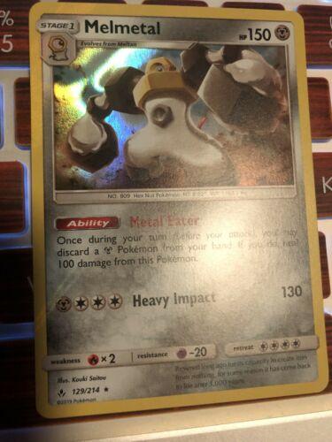 Melmetal 129/214 Holo Rare Pokemon Unbroken Bonds MINT