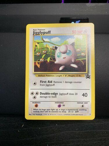 LP//NM Pokemon JIGGLYPUFF Card BLACK STAR PROMO Set #7 Wizards of the Coast WOTC