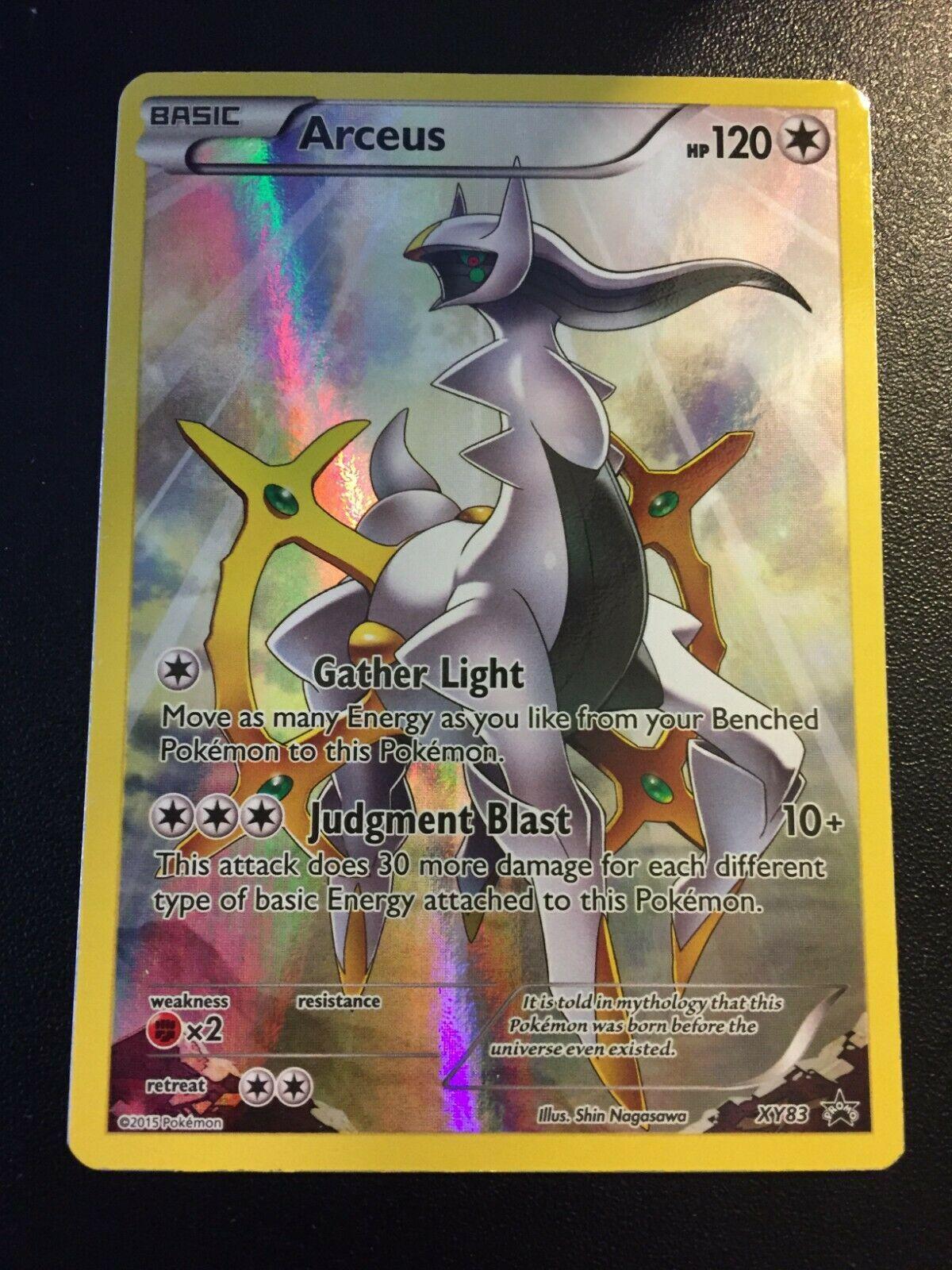Arceus XY83 Full art 2015 pokemon card