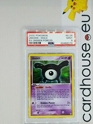 Unown X Card # X//28 Pokemon EX Unseen Forces R Holofoil Unown UNSEEN-X//28