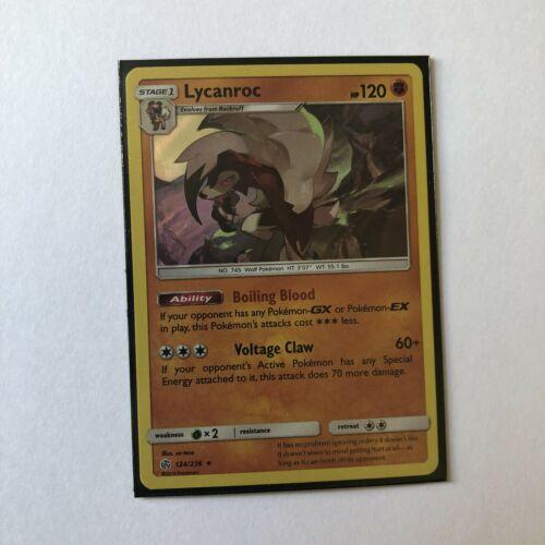 Pokemon Cosmic Eclipse Card # 124 4x SM12-124 Rare Holo Lycanroc