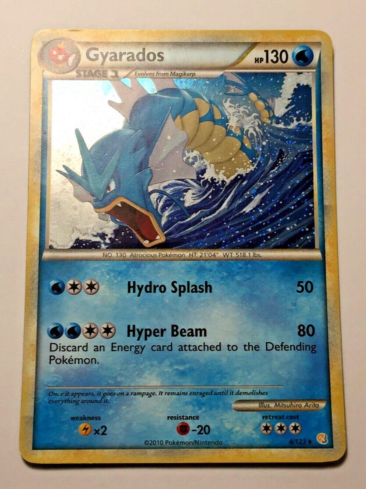 LP HGSS 4//123 Pokemon Gyarados Holo