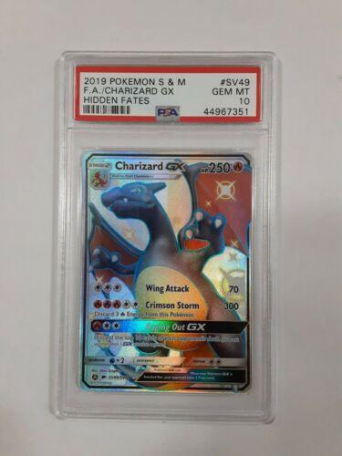 Full Art Shiny Charizard GX SV49//SV94 Hidden Fates PSA 9 MINT Pokemon Card