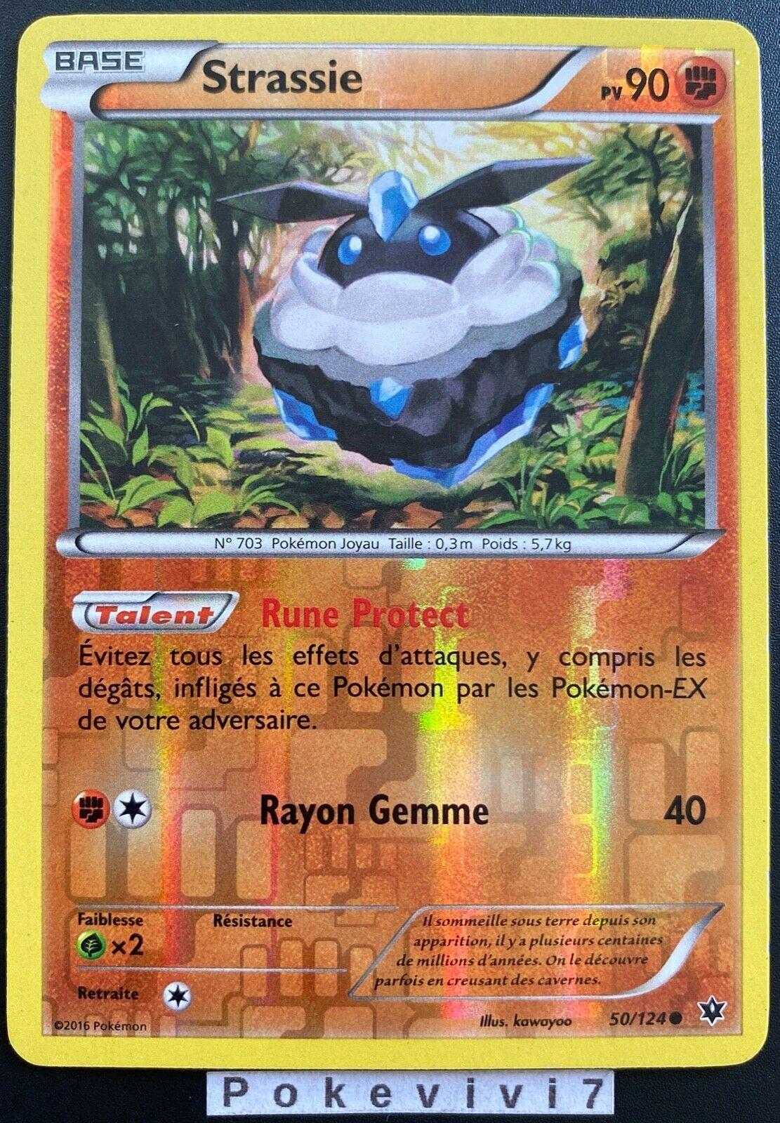 Reverse Holo 50//124 Rocara Schicksalsschmiede XY Pokemon