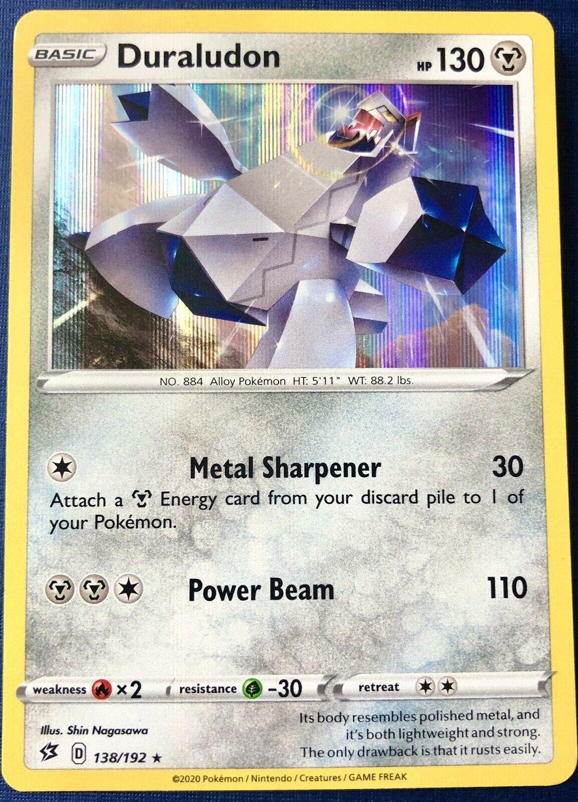 138//192 DuraludonRare Holo Card Pokemon TCG Sword /& Shield Rebel Clash SWSH02