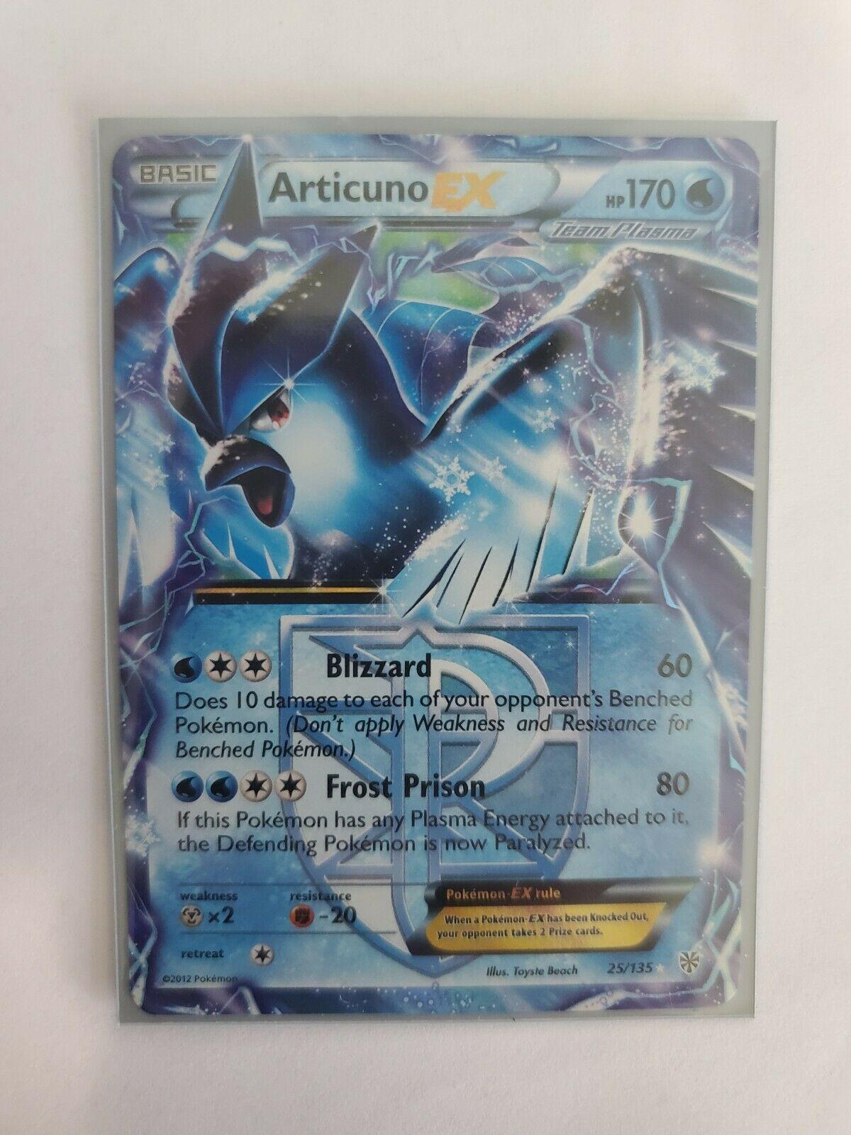 Articuno EX Half-Art Holo Rare Pokemon Card B/&W Plasma Storm 25//135