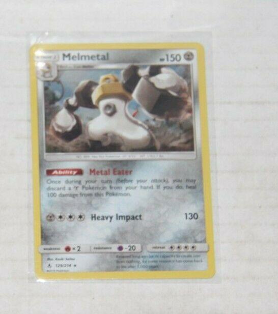 Melmetal (Holo) - Unbroken Bonds 129/214 Rare Pokemon Card Near Mint