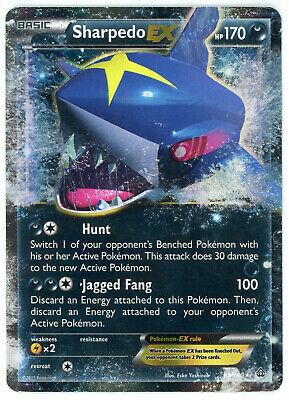 Pokemon XY Primal Clash Sharpedo EX Ultra Rare Holo 91/160
